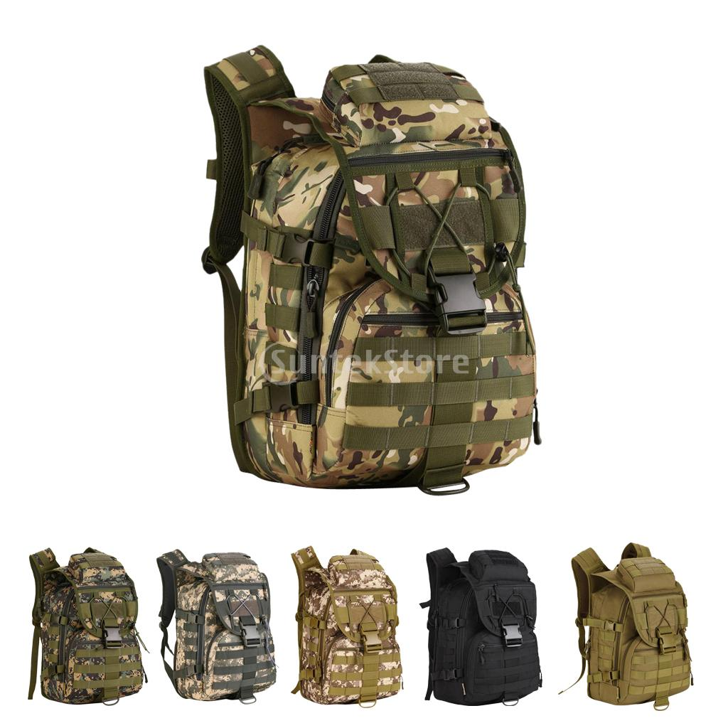 40L Men Women Military Tactical Molle Outdoor Backpack Rucksack Waterproof Camping Hiking Day Pack Sport Travel Bag coolbell 18 4 inch backpack laptop bag travel rucksack waterproof hiking knapsack protective day pack for men women