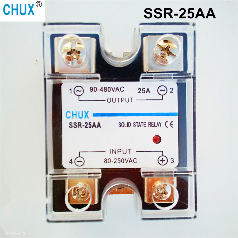 popular sales 25A  factory supply price AC-AC 220v Single phase Solid State Relay  SSR  (SSR-25AA) ssr 80aa ac output solid state relays 90 280v ac to 24 480v ac single phase solid relay module rele 12v 80a ks1 80aa