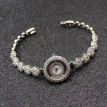 HERMOSA Upscale Fashion womens watches Silver Color charm bracelets Watchs QA80