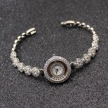 HERMOSA יוקרתי אופנה הנשים שעונים כסף צבע קסם צמידי Watchs QA80