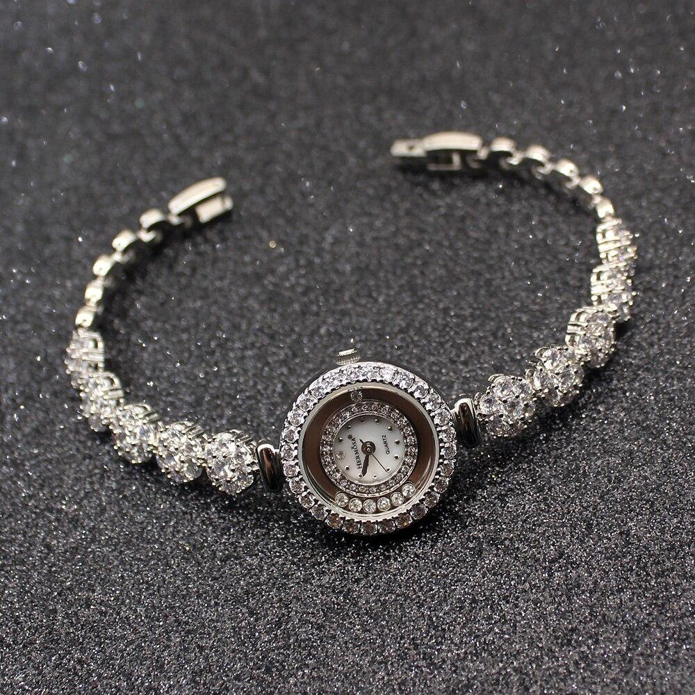 HERMOSA di Lusso delle nuove donne di Modo orologi 925 in argento sterling braccialetti di fascino Orologi QA80HERMOSA di Lusso delle nuove donne di Modo orologi 925 in argento sterling braccialetti di fascino Orologi QA80