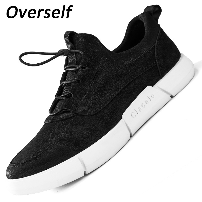 2018 Summer Genuine Leather Men Casual Shoes New Fashion Men's Shoes Plus Big Size 45 46 Breathable Sneakers Spring Black Flats 2016 new summer men shoes plus size genuine leather casual shoes men fashion suede breathable sandals for men 45 46 47 48