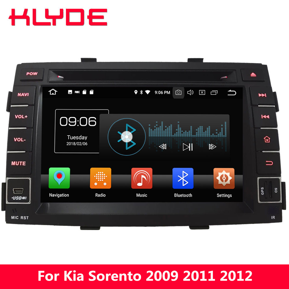 KLYDE 7 Octa Core PX5 4G WIFI Android 8.0 4GB RAM 32GB ROM Car DVD Multimedia Player Radio Stereo GPS For Kia Sorento 2009-2012 klyde 8 4g wifi android 8 0 octa core px5 4gb ram 32gb rom bt car dvd player radio gps navigation for hyundai elantra 2016 2017