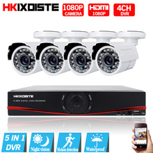 4CH CCTV System 1080P HDMI Output Video Surveillance DVR Kit with 4PCS 1080P Home CCTV Security Camera System 2.0MP AHD Camera