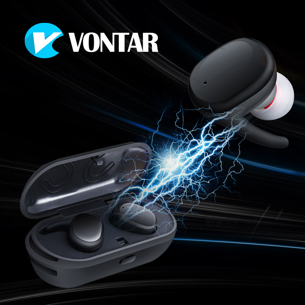 VONTAR Mini Wireless Earbuds True wireless earphone Bluetooth portable headphone with charging box handsfree Touch control