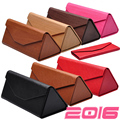 DRESSUUP Cute PU Leather Eyewear Sunglasses Box Bag Floding Sunglass Case Hard Eye Glass Eyeglass Box For Glasses Brand