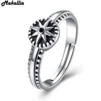 925 Sterling Silver Round Shape Radiant Elegance Star Open Clear CZ Flower Finger Rings For