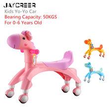 JayCreer детские ходунки для малышей с животными, детский беговел, учимся ходить для детей 1-8 лет