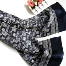 Осенний и зимний мужской шарф из чистого шелка, мужские шелковые атласные шарфы, двухслойный многослойный шейный платок в полоску для бизнес-подарка
