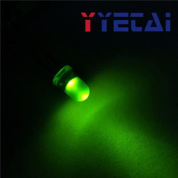 YongYeTai LED5MM okrągłe głowy zielone włosy zielone światła darmowa wysyłka tanie i dobre opinie Stateczniki standard Elektromagnetyczne