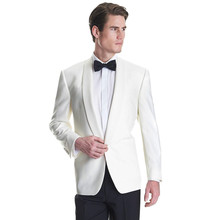 2017 Rushed Smoking Terno Grooms Tuxedos Wedding Suits For Men Shawl Lapel Mens Slim Fit Two Pieces Groomsmen (jacket+pants)