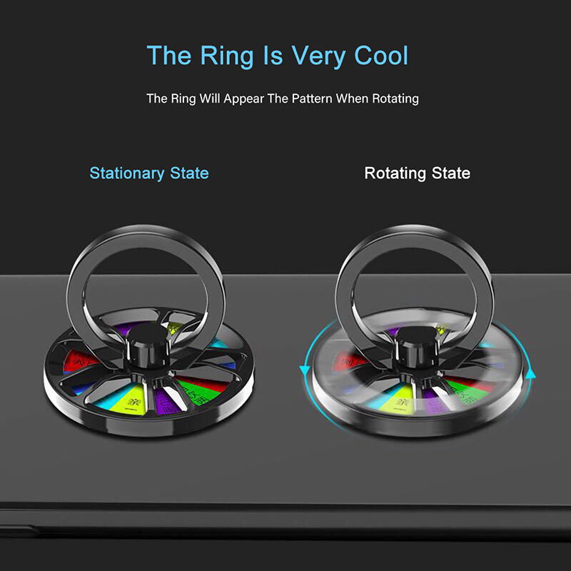 Finger Ring Gyro Holder Hand Spinner Rotary Stand Metal Rotation Fidget Mobile Phone Holder For iPhone XS Xiaomi mi9 Ring Holder in Phone Holders Stands from Cellphones Telecommunications