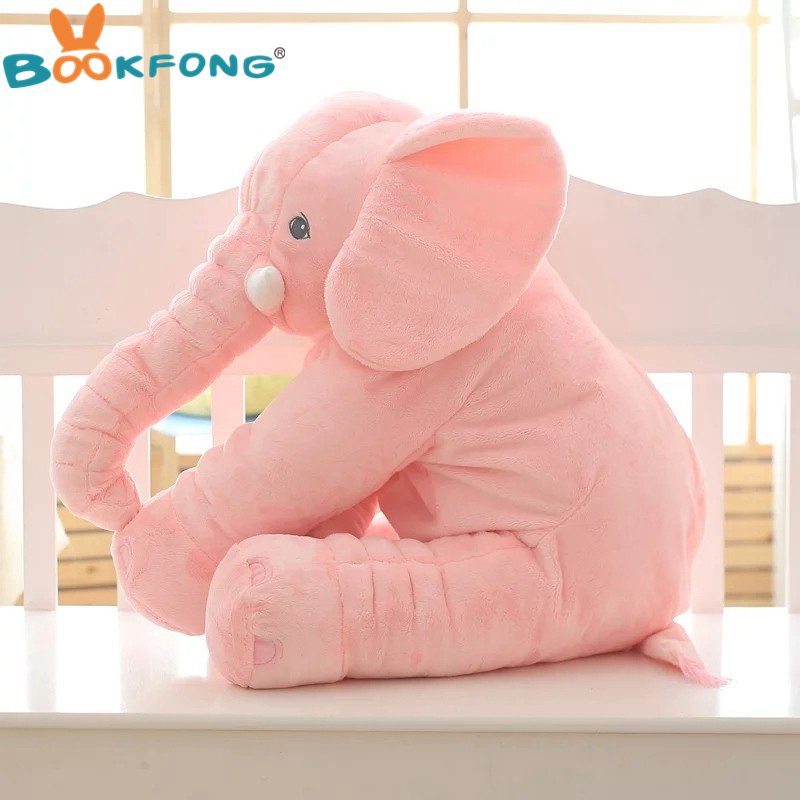 BOOKFONG 1PC 40/60cm Infant Soft Appease Elephant Playmate Calm Doll Baby Appease Toys Elephant Pillow Plush Toys Stuffed Doll 9