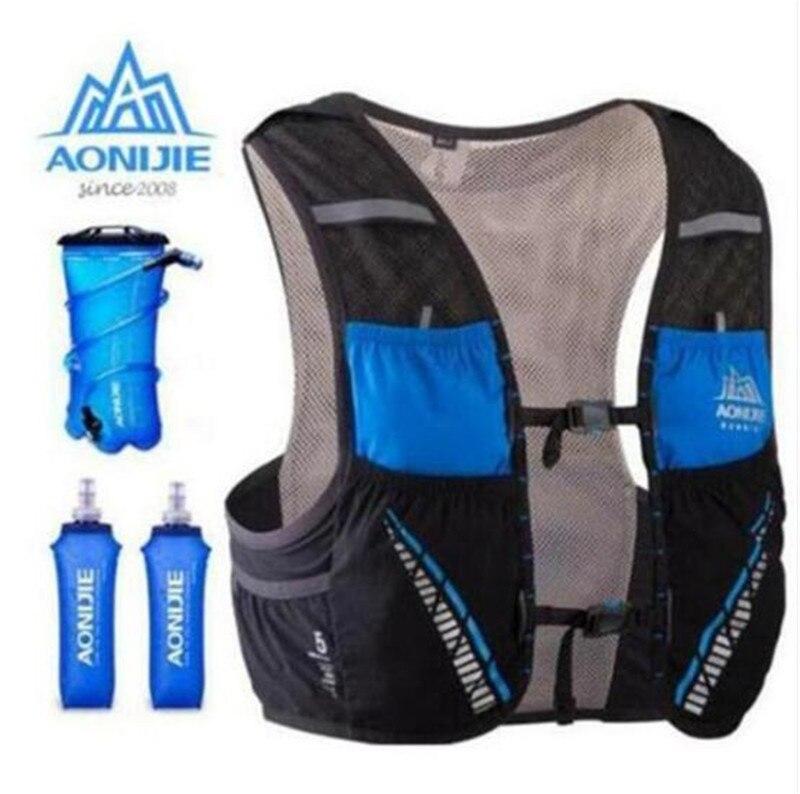 AONIJIE 5L sac à dos d'hydratation sac à dos gilet Marathon cyclisme escalade sac à dos d'eau harnais vessie course à pied - 2
