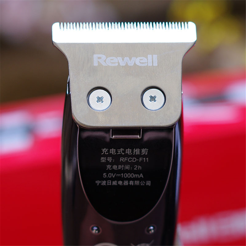 Image 4 - Electric Precision 1mm Hair Clipper Steel Cutter Professional Rechargeable Hair Trimmer for Men Salon Oil Head Shaving Machine-in Hair Trimmers from Home Appliances