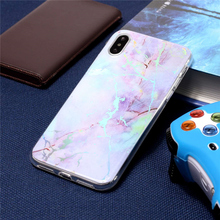 ZIHFONE Luxury Marble Case For iPhone X 7 8 Plus Colorful Silicone Phone 6 6s 5s SE Accessories