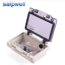 Saipwell Electrical Box IP67 Waterproof Distribution box with Transparent Protection Cover PWH-0406