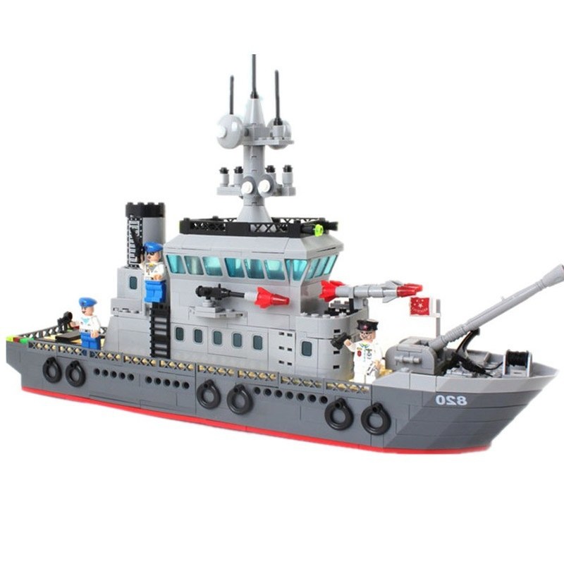model building kits compatible with lego city warship 1022 3D blocks Educational model & building toys hobbies for children цена