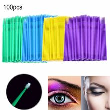 100Pcs/bag Disposable MicroBrush Eyelashes Extension Individual Lash Removing Swab Micro Brush For Eyelash Extension Tools(China)