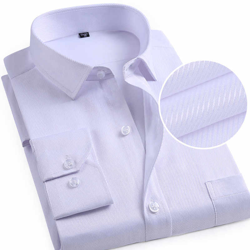男性フォーマルドレスシャツターンダウン襟全身胸ポケットスリムフィットツイルビジネスソフト非鉄男性トップス