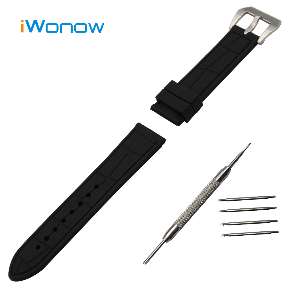 Silicone Rubber Watch Band 22mm for Samsung Gear S3 Classic / Frontier Stainless Steel Pin Buckle Strap Wrist Belt Bracelet+Tool 22mm silicone rubber watch band for samsung gear s3 classic frontier stainless steel buckle strap wrist belt bracelet black