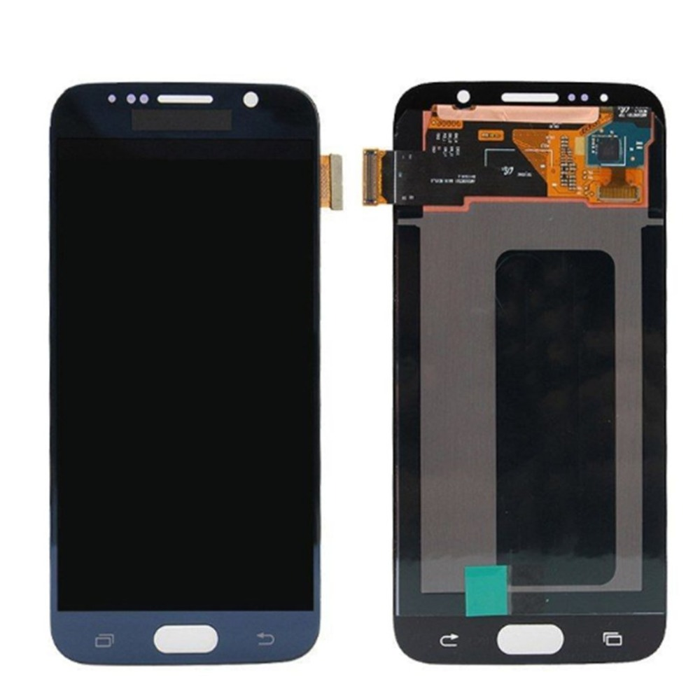 Display Touch Screen Digitizer Assembly Frame For SAMSUNG S7 S7 Edge G930F/G930AVTP Smartphone Screen Repair Accessories