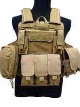 Molle CIRAS Tactical Vest Airsoft Paintball Combat Vest W/Magazine Pouch Utility Bag Releasable Armor Plate Carrier Strike Vests