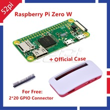 Newest! Raspberry Pi Zero W Wireless Pi 0 with WiFi and Bluetooth 1GHz CPU 512MB RAM Linux OS 1080P video output & Official Case