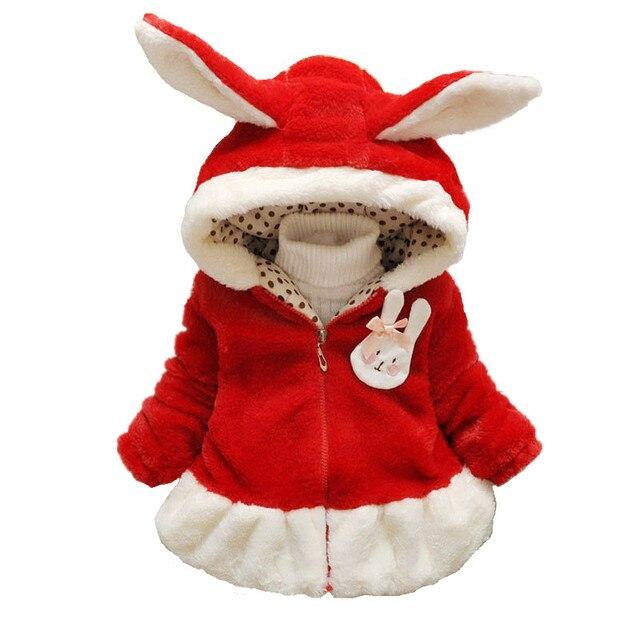 bac78f82ec38 Winter Children Casual Coat Faux Fur Coat with a Hat Simple ...