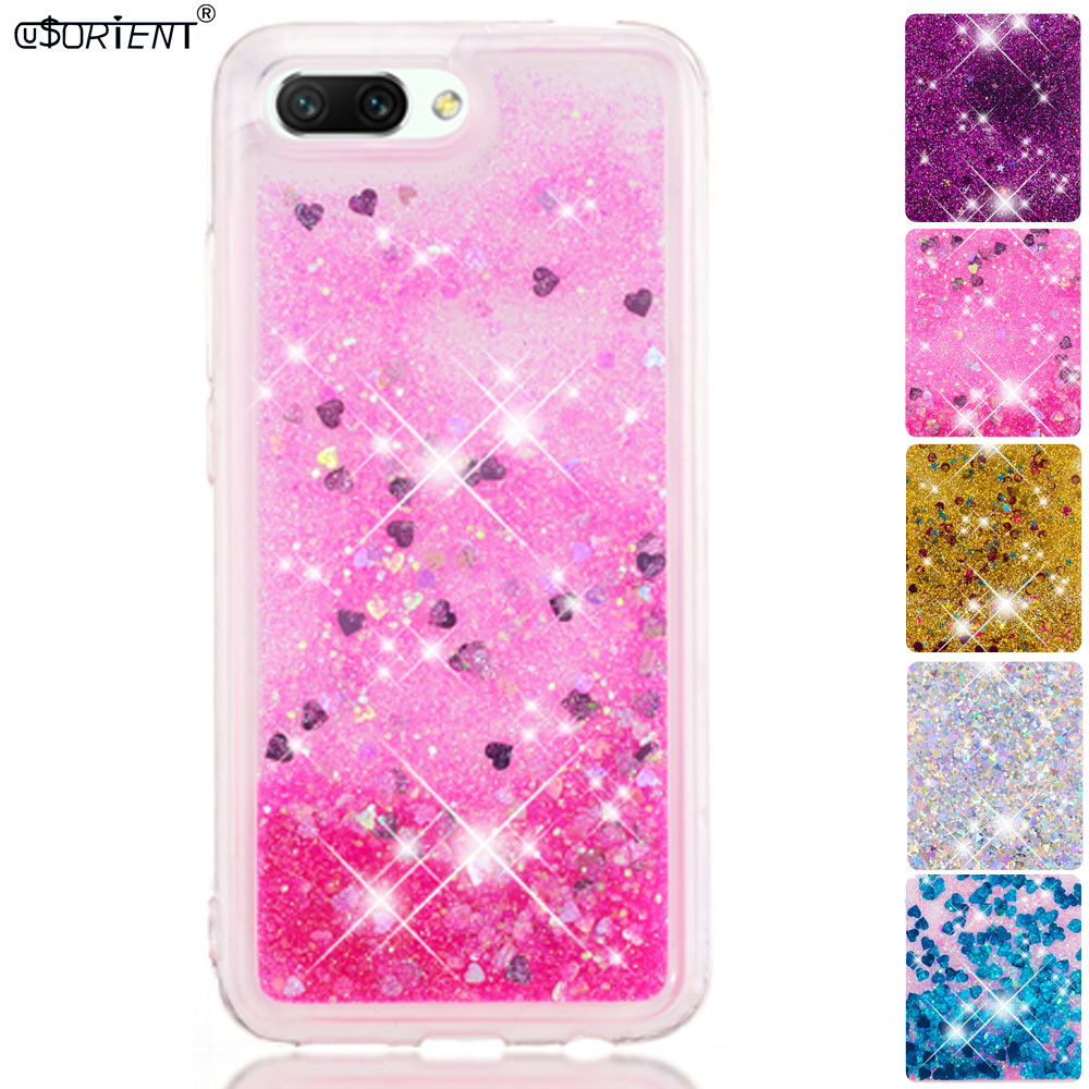 Phone Bags & Cases Skillful Knitting And Elegant Design Professional Sale Bling Glitter Case Huawei Honor 10 Col-l29a Dynamic Liquid Quicksand Silicone Phone Cover Huawei Honor10 Col-l29 Col-l29d Funda To Be Renowned Both At Home And Abroad For Exquisite Workmanship Half-wrapped Case