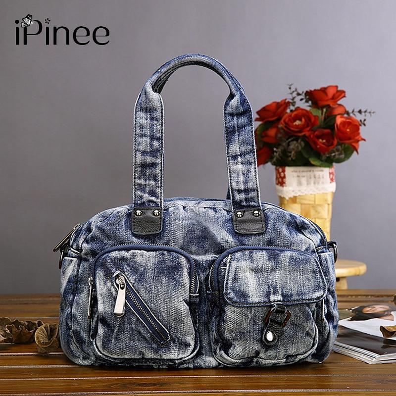 유명 브랜드 여성 가방 데님 핸드백 숙녀 crossbody 가방 고품질 totes 패션 지퍼 메신저 가방 여성 새로운-에서탑 핸드백부터 수화물 & 가방 의  그룹 1