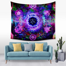 2019 Mandala Polyester Square Tapestry Wall Hanging Carpet Throw Yoga Mat for Home Bedroom Decoration