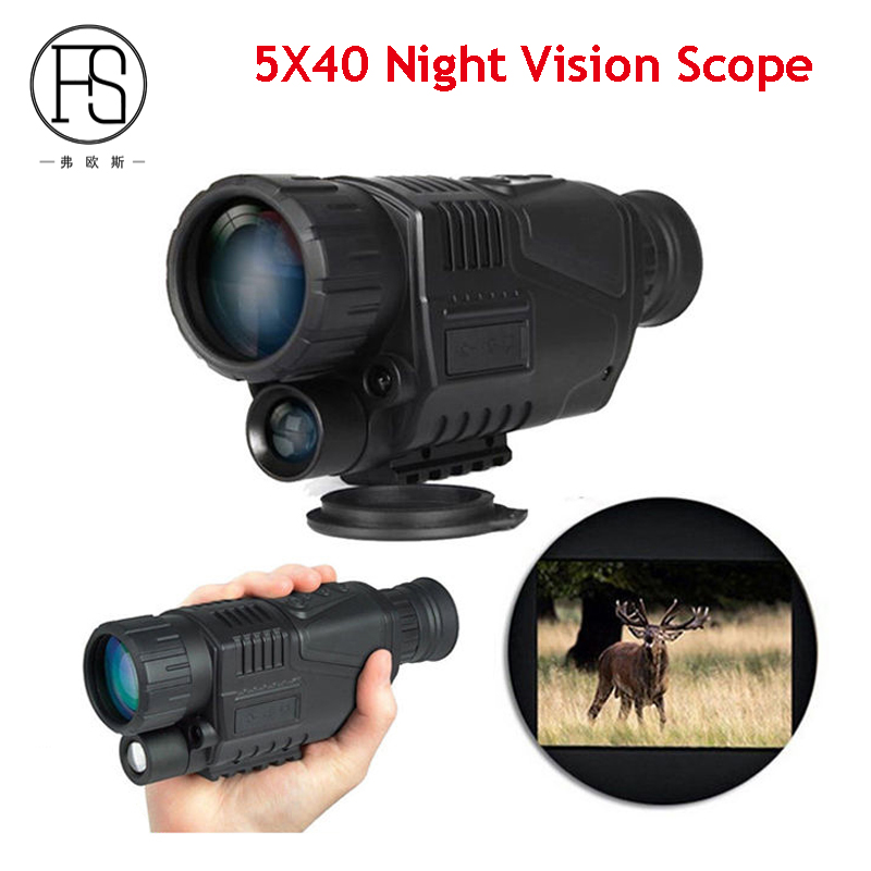 Good Quality 5X40 Night Vision Scope Outdoor Hunting Night Vision Goggles Hunting Monocular Telescope new arrival handheld 4 5x40 monocular night vision for hunting for shooting black