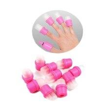 2015 New 10PCS Wearable Nail Art Reusable Soaker Acrylic Tips Polish Remover   Tools   6FGN