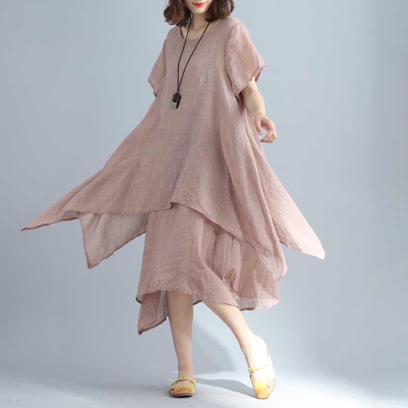 Clobee tunique femme robe ete 2017 Verão vestido de manga Curta femme mulheres de Linho De algodão Solto Praia Branco vestido vestidos de festa