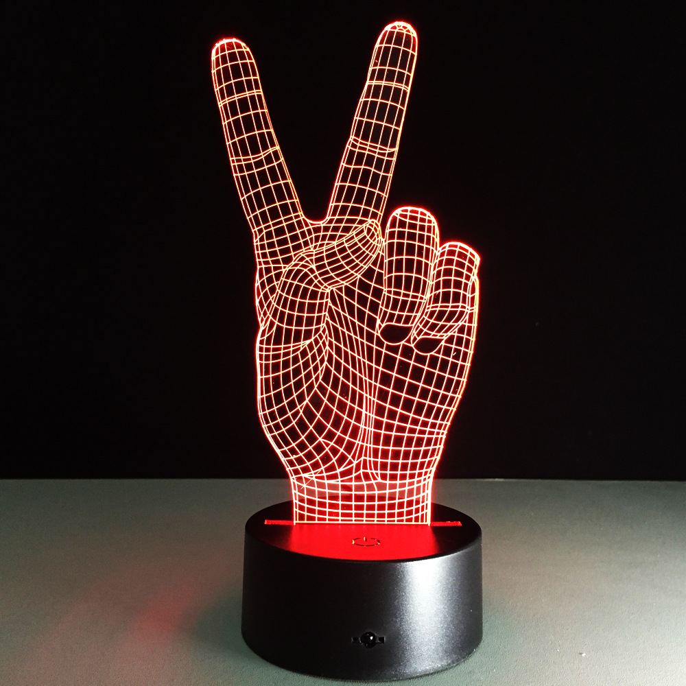 The Victory 3d Light Colorful Touch Led Visual Lamp Decoration Atmosphere Table  Lamp Night Lighting(