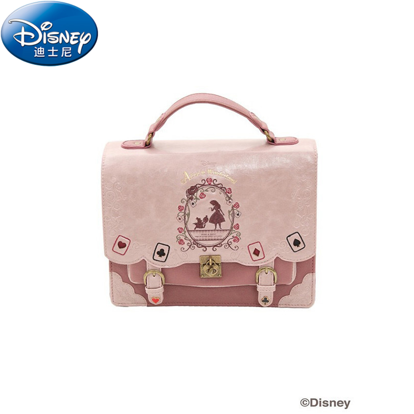 Disney Alice in Wonderland Fashion Women's Handbags Luxury Handbags Designer Famous Brands Tote Bag Hand bags for Young Girls цена и фото