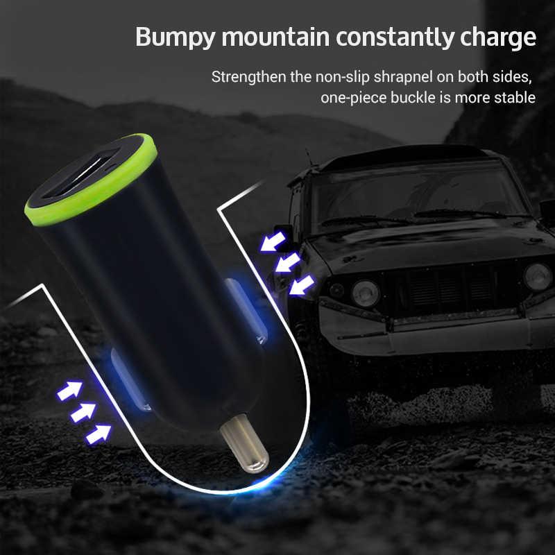Sindvor Mini LED cargador de coche Max 2.1A USB para adaptador de teléfono móvil coche USB cargador de teléfono para iPhone 6 7 8 Samsung xiaomi Huawei