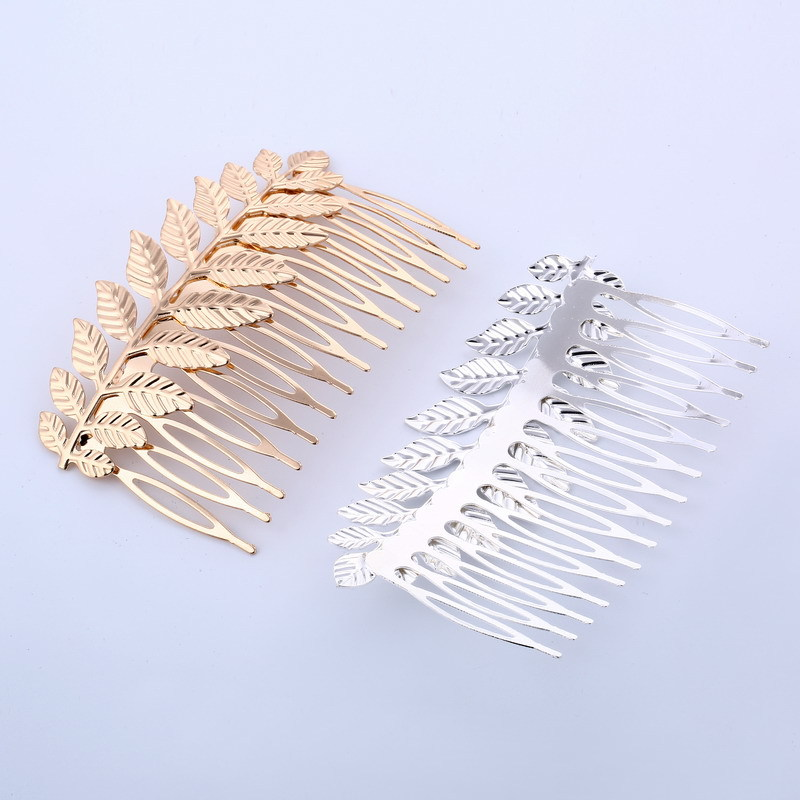 1Pc Tree leaf Pop Hair Clip Hair Comb Hair Styling Accessories For Wedding Hairdressing Metal Hair Combs For Girls Lady