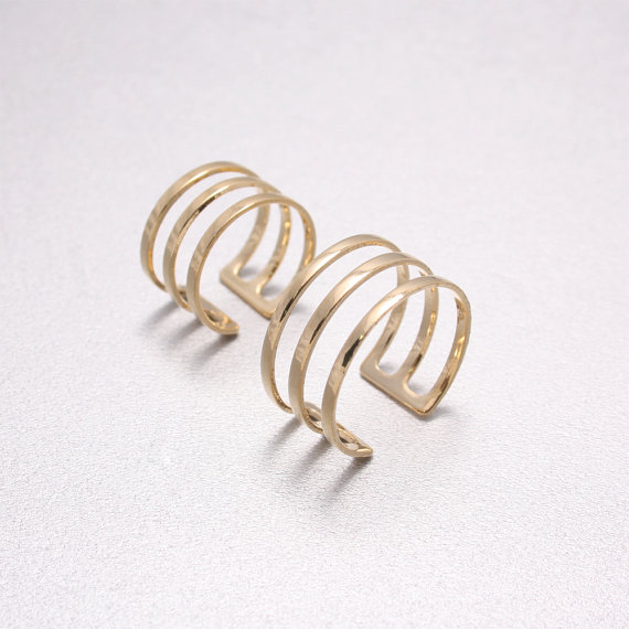 Open Band Ring & Above The Knuckle Ring