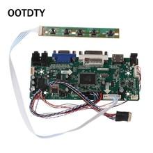 "Placa de controlador LCD HDMI DVI VGA para Audio PC módulo controlador Kit de bricolaje 15,6 ""Pantalla B156XW02 1366X768 1ch 6/8 bit 40 Pin Panel"