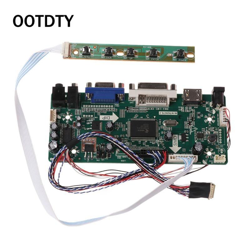 """Плата контроллера ЖК дисплей VGA, HDMI, DVI аудио ПК Драйвер модуля DIY Kit 15,6 """"Дисплей B156XW02 1366X768 1ch 6/8 bit 40 Pin Панель-in Сменные детали и аксессуары from Бытовая электроника"""