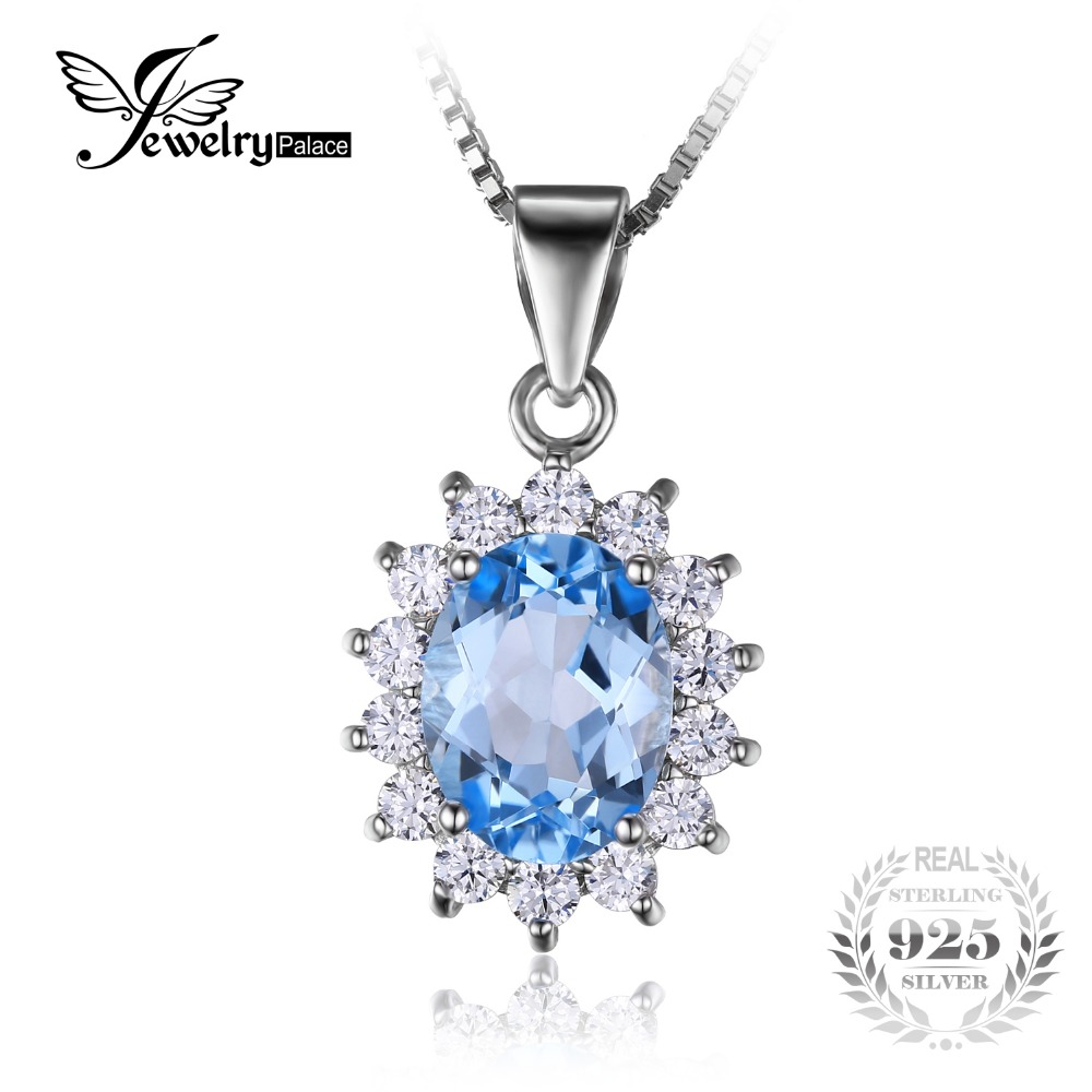 Women Shiny 18K Gold Filled Chain Princess Black Topaz Crystal Pendant Necklace
