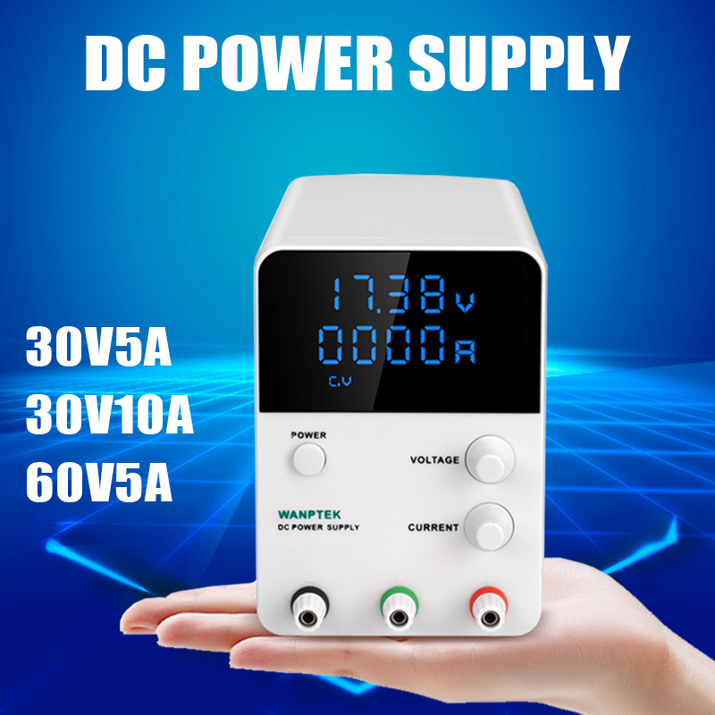 Variable DC Power Supply 30V 10A Adjustable Regulated Power Supply mA Display 0 30V 0 10A