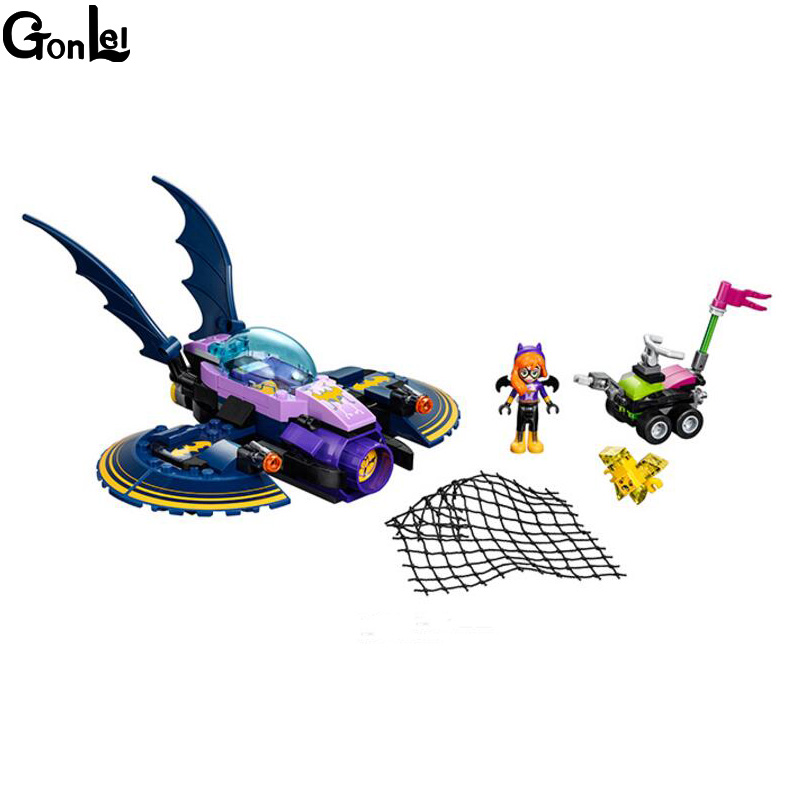 (GonLeI) 10615 NEW DC Marvel Avengers Super Heroes Girl Friends Series Batman Batgirl Jet aircraft Building Block Toy Children loz dc comics super heroes mini diamond building block batman