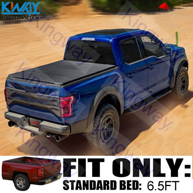 FREE SHIPPING-King Way- 6.5FT Short Bed Hard Tri-Fold Tonneau Cover For 2002-08 Dodge
