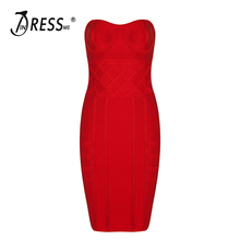 INDRESSME New Women Sexy  Party Strapless Bandage Dress Club Dress