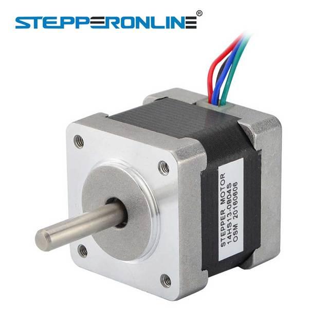 STEPPERONLINE Nema 14 Stepper Motor 34mm 18Ncm 25.5oz.in 0.8A 4-lead