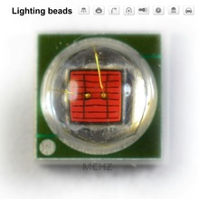 40PCS 3535 beads 3v 2v 1W 2W 588-590nm 460-465nm 620-625nm red green blue yellow pink cold and white Lamp for plant growth