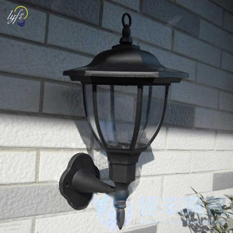 New Outdoor 4 Led Solar Wall Light Lamp